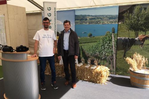 Hansruedi Häfliger, Direktor LZ Liebegg, mit OK-Mitglied Thomas Hufschmid